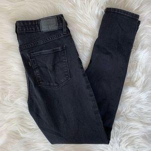 Levi's 721 High Rise Skinny Jeans Size 30 Black